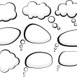 Stock Vector: Speech clouds.