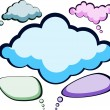 Stock Vector: Speech color clouds.