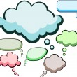 Speech color clouds. — Imagen vectorial