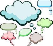 Speech color clouds. — Stock Vector