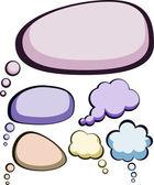 Nuvens de cor do discurso. — Vetorial Stock