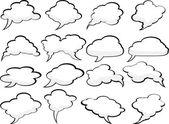 Nuvens de discurso. — Vetorial Stock