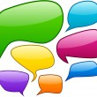 Vector color speech bubbles. — Stock vektor