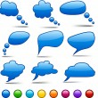 Vector color speech bubbles. - Stock Vector