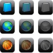 Royalty-Free Stock Vector Image: Square modern app icons.