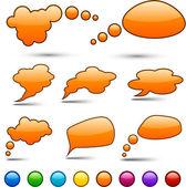 Vector cor bolhas do discurso. — Vetor de Stock
