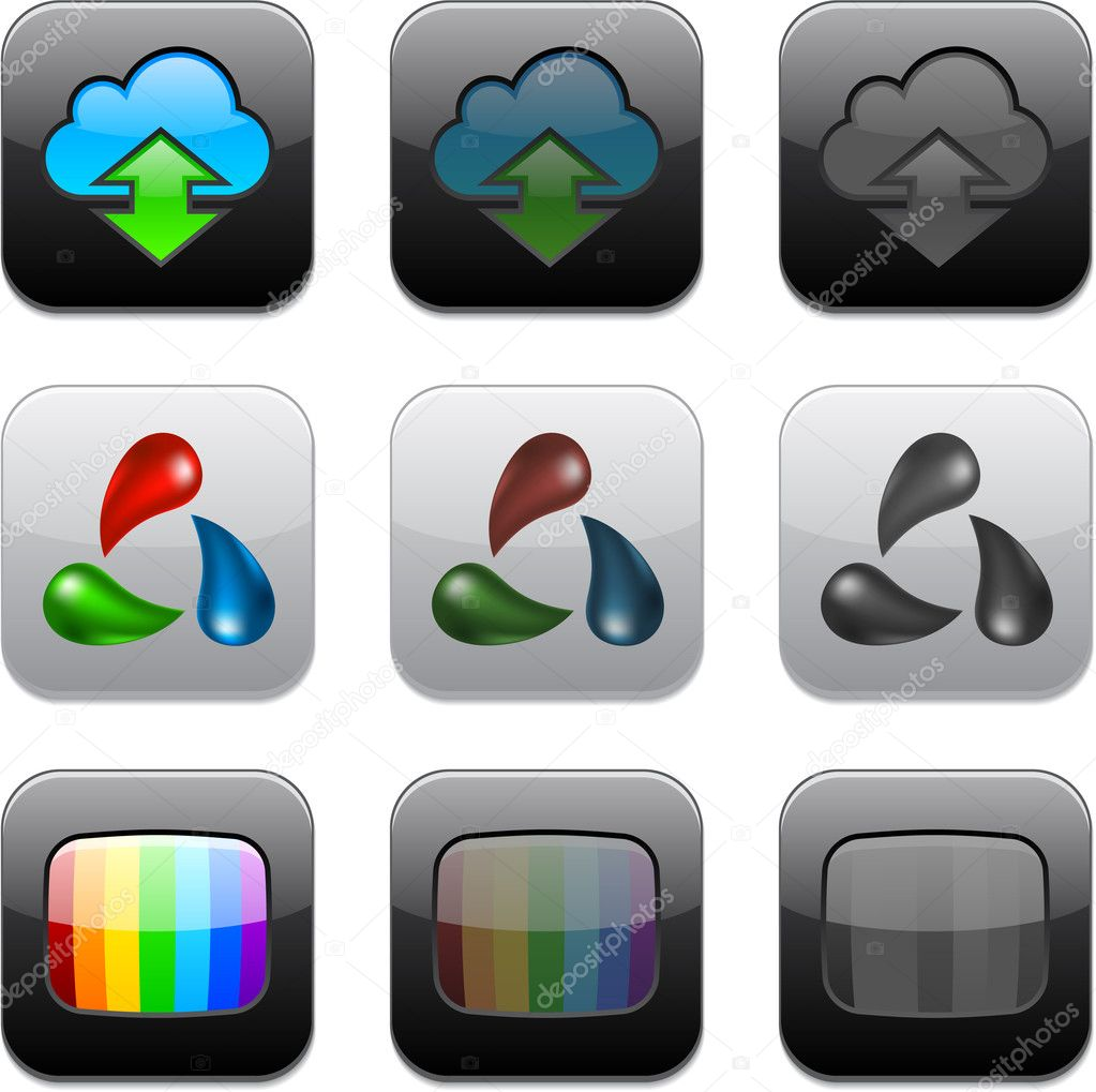 Vector illustration of apps icon set. — Stock Vector #6703815