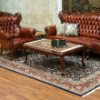 Stock Photo: Interior with leather furniture