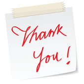Thank you note — Stock Photo