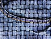 Dettaglio della tasca di jeans blu con taglio tipico — Foto Stock