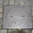 Manhole Cover - Stock Photo