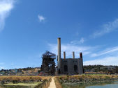 Retired Hunter's Point Power Plant at Heron's Head — Stock Photo