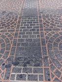 Smutsiga golv gångväg mönster — Stockfoto