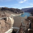 Hoover Dam overhead seen from Arizonside — Stock Photo #6600004