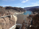 Hoover Dam overhead seen from Arizona side — Stock Photo