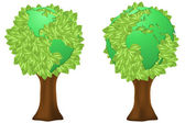 Eco trees — Stock Vector