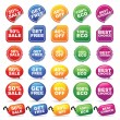 Stock Vector: COLORFUL BADGES AND TAGS