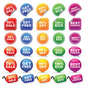 COLORFUL BADGES AND TAGS — Stock Vector