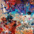 Graffiti Background - Stock Photo