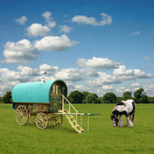 Gypsy Wagon, Caravan — Stock Photo