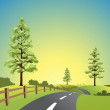 Country Landscape — Stock Vector