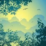 orman manzarası — Stok Vektör