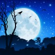 Royalty-Free Stock Imagen vectorial: Forest Landscape with Moon