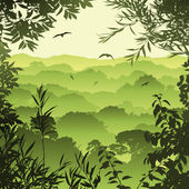 Forest Landscape — Vector de stock