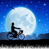 Moon Landscape — Stock Vector