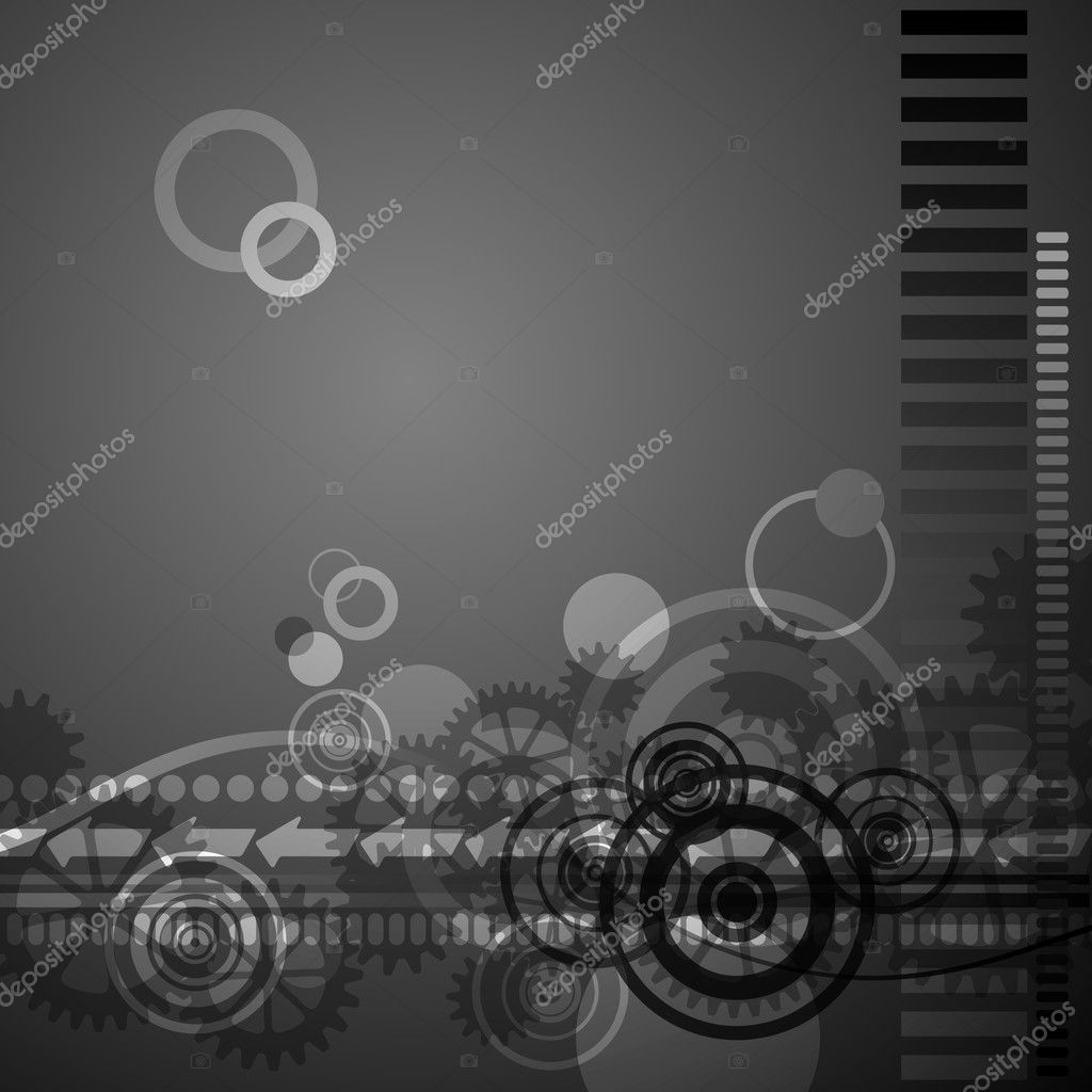 A Retro Abstract Background Pattern with Gears and Circles — Stock Vector #5937945