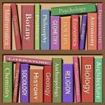 Bookshelf — Stock Photo