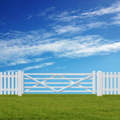 White Gate — Stock Photo