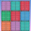 Vector de stock : Freight Containers