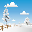 Snow Landscape — Stock Vector