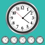 Clock Faces — Stock Vector