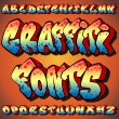 Stock Vector: Graffiti Fonts