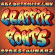 Graffiti Fonts — Stok Vektör