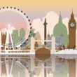 London Cityscape - Stock Vector