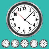 Zegar twarze — Wektor stockowy