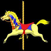 Carousel Horse — Stock Vector