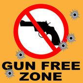Gun Free Zone — Stock Vector