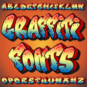 Graffiti Fonts — Stockvektor