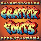 Graffiti Fonts — Stock Vector