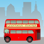 Red London Bus — Stock Vector