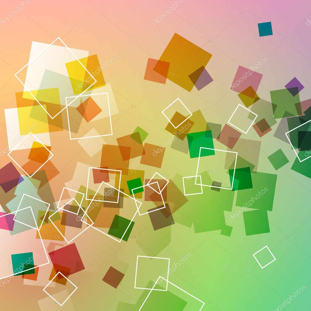 An Abstract Background Design with Colorful Transparent Squares — Stock Vector #6373062