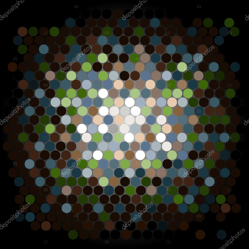 An Abstract Background with Dots  Stock Vector #6373076
