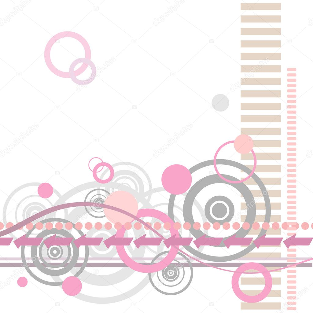 A Retro Abstract Background Pattern with Lines and Circles — Stock Vector #6373078