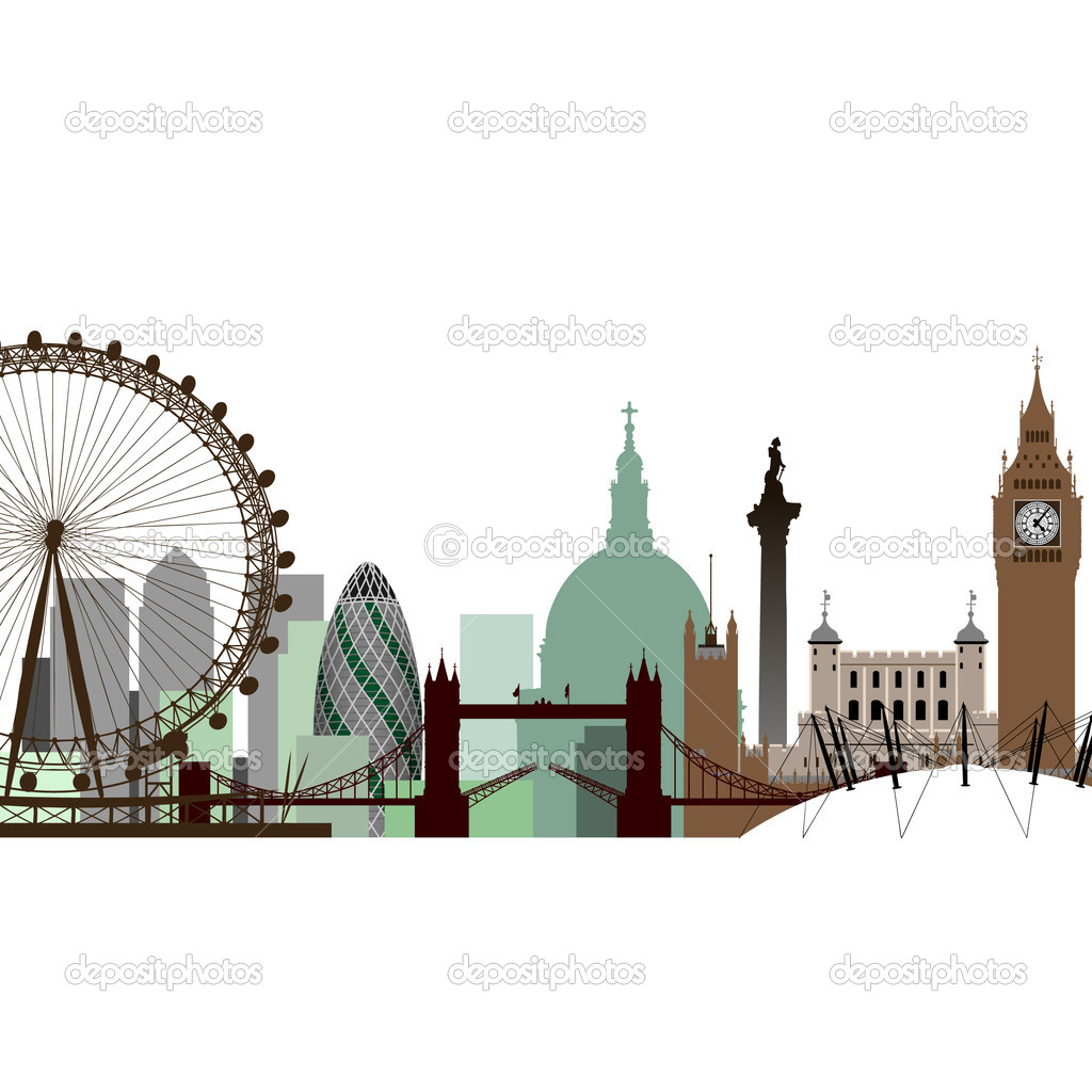 A Vector Cityscape of London  Stock Vector #6373252
