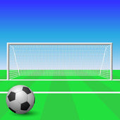Voetbal doel — Stockvector