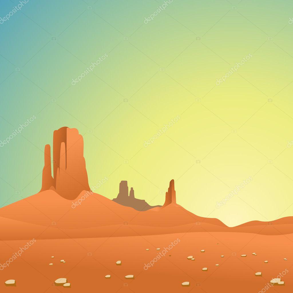 Desert Landscape — Stock Vector © Binkski #6604022
